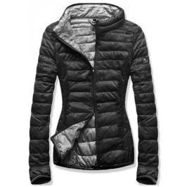 Női steppelt kabát B1010 fekete