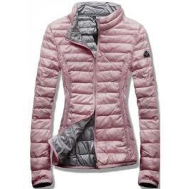 Női steppelt kabát B1010 rózsaszín