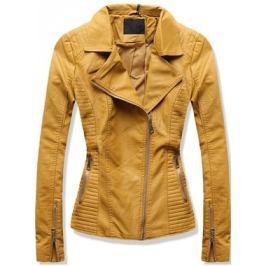 Női műbőr kabát 5326 sárga