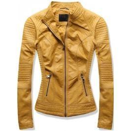 Női műbőr kabát  5375 sárga