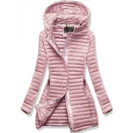 Női steppelt kabát 7222 púderrózsaszín