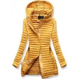 Női steppelt kabát 7222 sárga