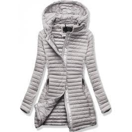 Női steppelt kabát 7222 szürke