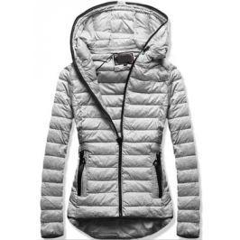 Női steppelt kabát 7149 szürke