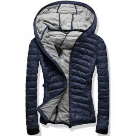 Női steppelt kabát B1011 sötétkék