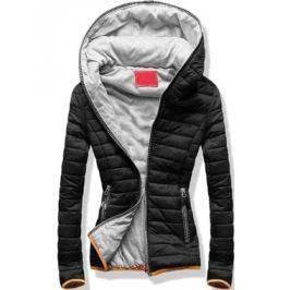 Női steppelt kabát Q11 fekete