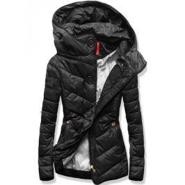 Női steppelt kabát P03 fekete
