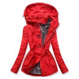 Női átmeneti kabát P01B piros