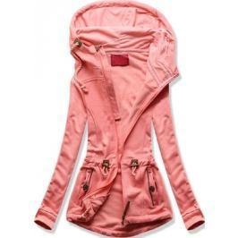Női kapucnis pulóver D429 rózsaszín
