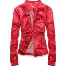 Női műbőr kabát TD101 piros