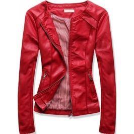Női műbőr kabát TD102 piros