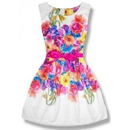 Elegáns női ruha 1439 fehér-rózsaszín