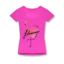 Női póló 1296 rózsaszín