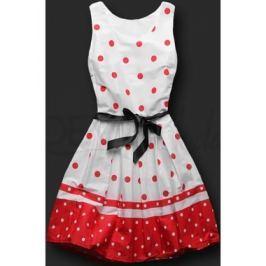 Elegáns női ruha 9501 fehér-piros
