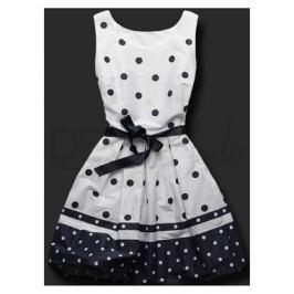 Elegantné női ruha 9501 fehér-kék