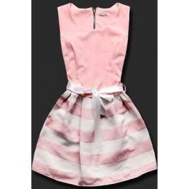 Elegáns női ruha 3054PAS púderrózsaszín