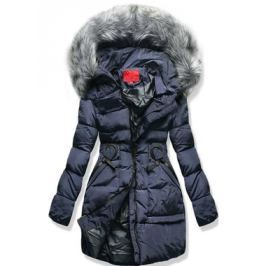 Női téli kabát kapucnival 1807 kék
