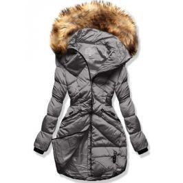 Női téli kabát kapucnival 8819 szürke