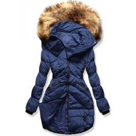 Női téli kabát kapucnival 1819 kék