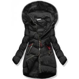 Női téli kabát kapucnival 3756 fekete