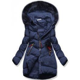 Női téli kabát kapucnival 3756 kék