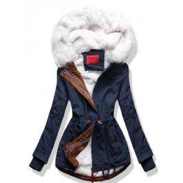 Női téli kabát kapucnival A8 kék