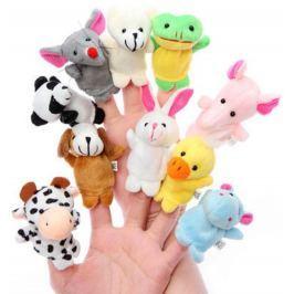 10db Állatos ujjbáb, a kisgyerekek kedvencei