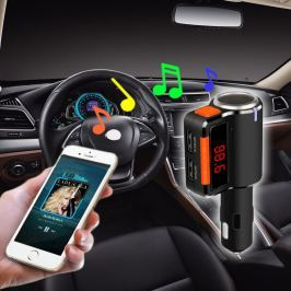 Dual szivargyújtós, USB-s Bluetooth FM Transmitter