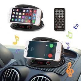 Bluetooth kihangosító FM transmitter telefon tartóval MP3 lejátszó USB Micro SD csatlakozóval