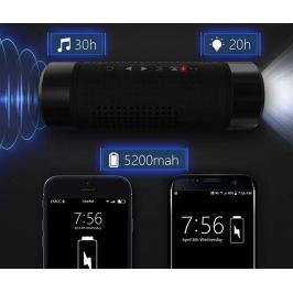 Vízálló, 3 az 1-ben Bluetooth hangszóró, külső akkumulátor és zseblámpa