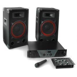 Ibiza DJ PA szett - erősítő, mixer, hangfalak, mikrofon