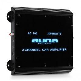 2 csatornás autós Auna terminál, autós erősítő,2000 W,akril