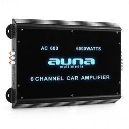 6-csatornás Auna erősítő, autóba alkalmas, 6000 W, akril
