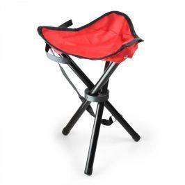 OneConcept Hordozható kempingszék, horgász szék, piros-fekete, 500 g