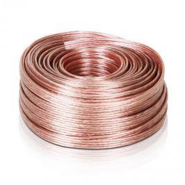 Auna hangosító kábel, 4 x 2,5 mm2, átlátszó, 50 m