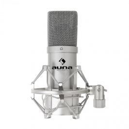 Auna MIC 900S USB kondenzátor mikrofon, ezüst, kardoid
