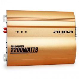 Auna Goldhammer 2-csatornás erősítő autóba, 2200 W, arany