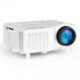 Auna LCDP, fehér, mini LED projektor, VGA, AV