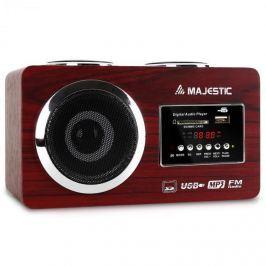 Kompakt rádió Majestic AH 173, MP3- lejátszó, USB, SD, AUX