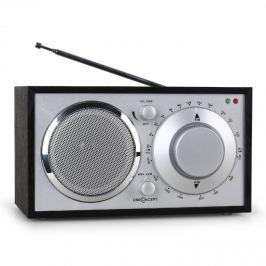 OneConcept Lausanne nosztalgia rádió, fekete, FM, AUX