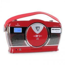 Retró rádió Auna RCD-70, FM, USB, CD, elem
