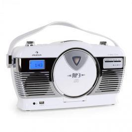 Auna RCD-70 retró rádió, FM, USB, CD, elem, fehér