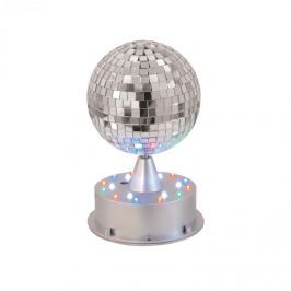 Eurolite LED tükörgömb, 13 cm, világító állvány, LED