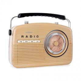 OneConcept NR-12 tranzisztoros rádió, retro 50-es évek, bézs