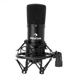 Auna CM001B stúdió kondenzátor mikrofon, fekete