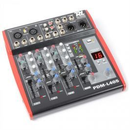 Power Dynamics PDM-L405,4 csatornás keverőpult,USB,AUX,+48 V