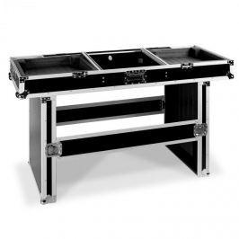 FrontStage Profi Coffin Case DJ asztal 2 lejátszóhoz és mixerhez , 155 cm