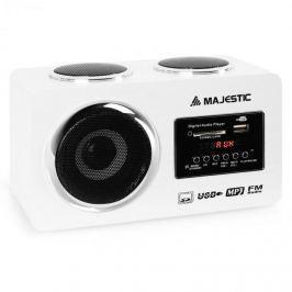 Majestic AH 173, multimediális audiorendszer, USB SD AUX, fehér szín