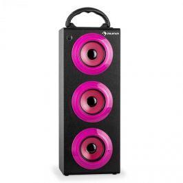 Auna Beachgirl XXL Bluetooth hangfal, rózsaszín, USB, SD, AUX, FM