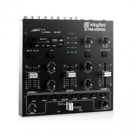 Skytec STM-2250,USB SD MP3 FX, 4-csatornás keverőpult